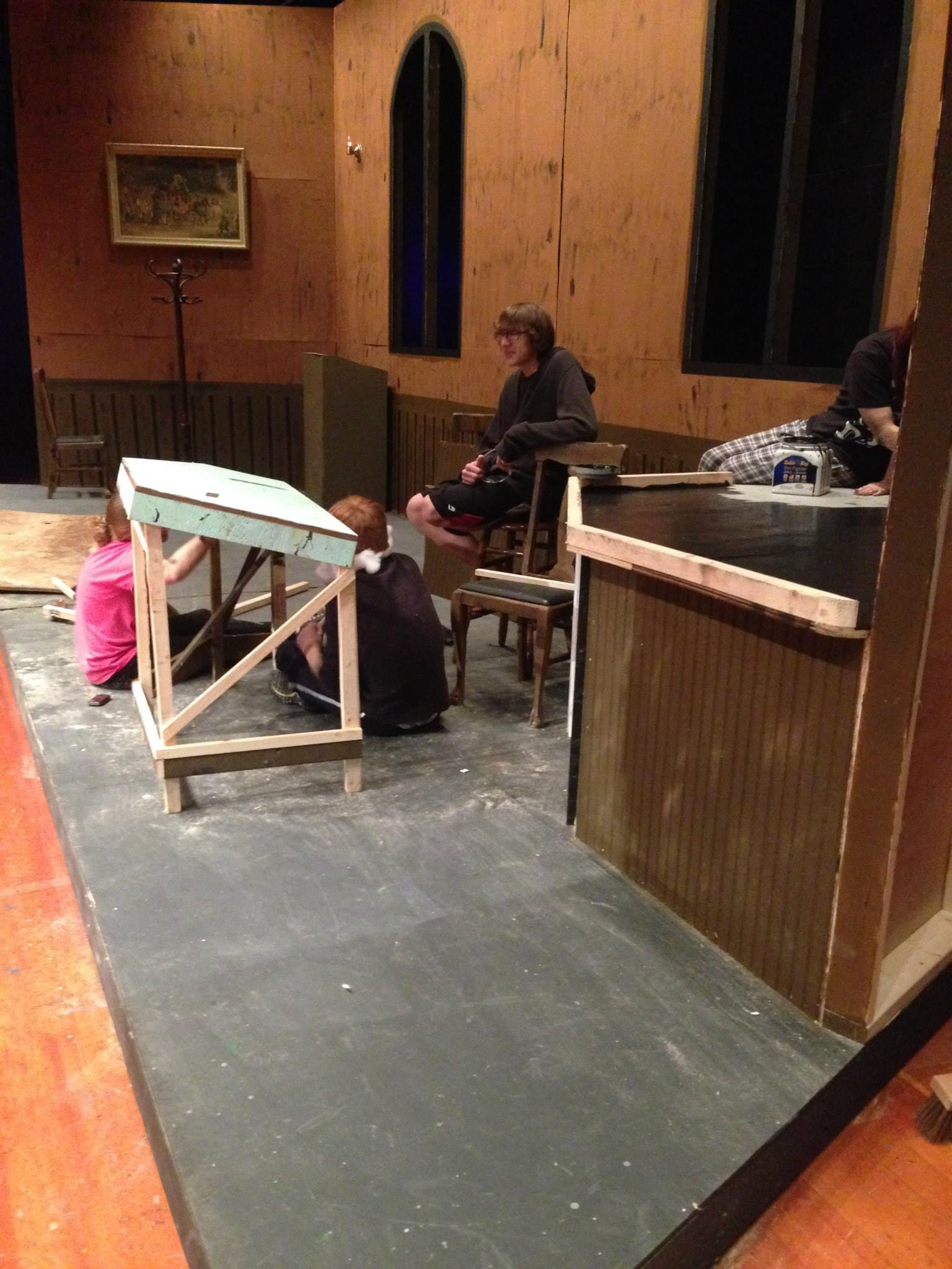2013- Stage Crew plans the concepts for furniture on the set of 'A Christmas Carol'