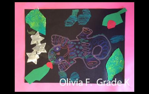 Alden Kindergarden Art Students Rousseau-inspired Artworks