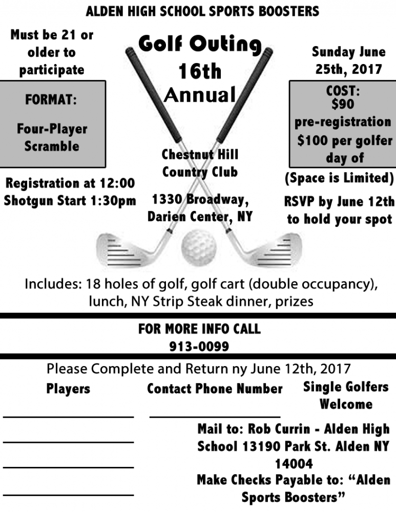 Alden Sports Boosters: Golf Outing