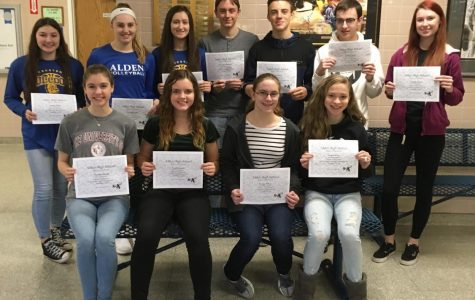 HS Students of the Month- December 2018