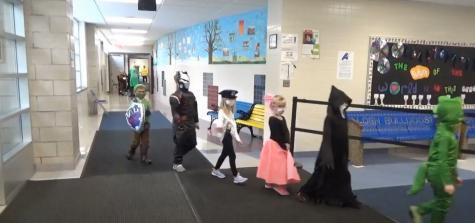 Alden Primary School Halloween Parade: Gold Cohort