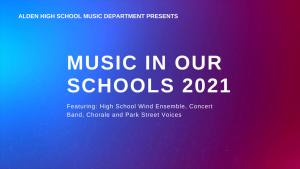 Alden HS Music Department Celebrates Music in Our Schools Month