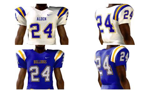 Alden's Football Varsity Team Jersey Improvement