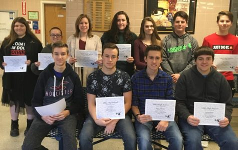 HS Students of the Month for January 2019