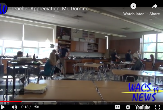 Teacher Appreciation: Mr. Domino