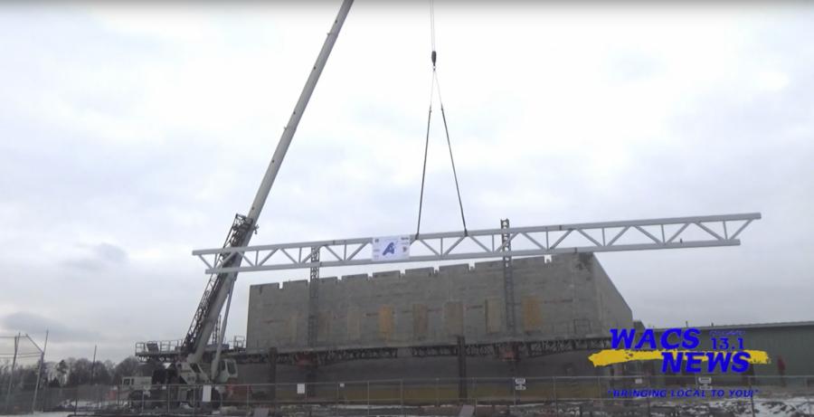 Alden Aquatics Center Reaches Construction Milestone